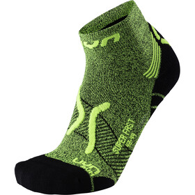 UYN M's Run Super Fast Socks Yellow Fluo Melange/Black